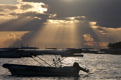 Rays Of Light (Alan1954) Tags: sunset sea holiday boat philippines bohol rays panglao 2015 platinumpeaceaward