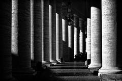 Colonnade 2 IMGP1220_tiff_DxO+cc+se_arch_wat (shammuramat (on/off sorry, be bk soon)) Tags: blackandwhite bw roma blackwhite noiretblanc column sanpietro bernini bnw colonnade stpeter colonnato smcpentaxf28mm128 pentaxf2828