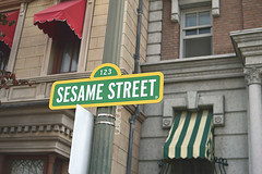 can you tell me how to get... how to get to... (lunerin) Tags: streetsign sesamestreet