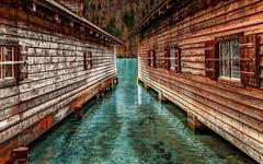 Boathouse (Königssee) (lichtbild_total) Tags: blue windows house mountain water germany deutschland wasser fenster haus panasonic berge blau boathouse bootshaus königssee schönau fz1000