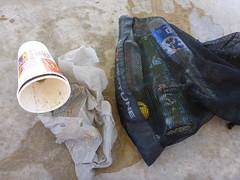 Rubbish haul (Figgles1) Tags: cup trash shark bottle garbage snorkel bottles snorkeling plastic cups rubbish barrier eco coogee p1000544 coogeeecosharkbarrier