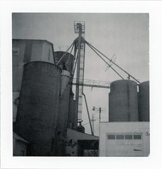 Edwardsburg, MI (moominsean) Tags: winter mill polaroid corn midwest michigan silo instant chill 190 edwardsburg type87 expired052008