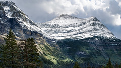 September snow on Citadel (VFR Photography) Tags: autumn sky cloud mountain snow mountains clouds landscape landscapes montana skies mt nps peak snowcapped alpine rockymountains glaciernationalpark peaks nationalparkservice stmary rugged loganpass goingtothesunroad citadelmountain glaciercounty