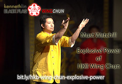 Black Flag Wing Chun Kung Fu Internal Power Demonstration (Hek Ki Boen Eng Chun) Tags: man black flag wing chun donnie yen ki hek ip yip boen