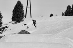 GB free-style coach showing how its done (adam_moralee) Tags: park bw white snow black cold adam monochrome lens outdoors nose austria blackwhite jump nikon action air free style wb snowboard grab tamron snowboarder mountian snowpark piste slopes ain 18200mm moralee d7000 adammoralee
