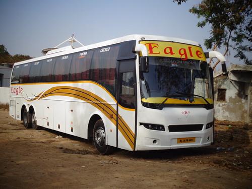 Eagle Travels Volvo B9R Semi Sleeper At Eagle Pump Ahmedabad... - a