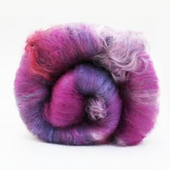 spinning batt (Bee Mice Elf) Tags: art wool hand spinning fiber roving batt carded handdyed batts beemiceelf