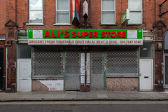 Ali's Super Store (Gary Kinsman) Tags: urban london sign shop closed cityscape edge shutters e1 spitalfields shopfront fashionstreet urbanlandscape eastend eastlondon 2016 topographics canon28mmf18 newtopographics cityfringe canoneos5dmarkii canon5dmkii alissuperstore