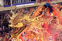 Dragon Rider (Rice Bear) Tags: carnival brazil rio brasil riodejaneiro costume br dragon feathers dragons carnaval float floats carioca sambadromo sambadrome carnival2016 riocarnival2016