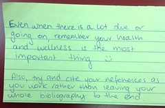 Look after yourself (thompsoe) Tags: payitforward uniadvice advicefromstudents