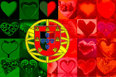 Valentines Day Card - Portuguese heart flag (muffinn) Tags: hearts heart flag valentine valentinescard