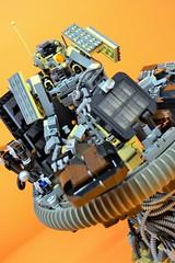 Decibelle_14 (Shadowgear6335) Tags: orange radio robot factory lego good technic hero bionicle mech moc shadowgear6335 bionicle2015