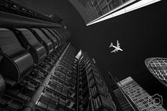 Anything But a Plane City (LeePellingPhotography.co.uk) Tags: gherkin leadenhouse lloyds london plane