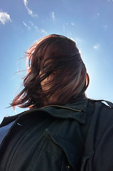 Day 58 of Year 7- It was a little windy today (Pahz) Tags: selfportrait wisconsin hair windy windblown 365days