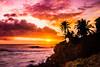 Sunset Waimea Bay Oahu Hawaii (Anthony Quintano) Tags: sunset sky color beach weather clouds hawaii landscapes oahu palmtrees waimeabay