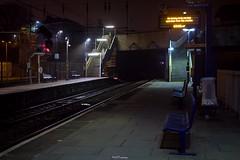 No Sunday train Service operates from this Station (LFaurePhotos) Tags: urban london night platform tracks eerie trainstation acton firstgreatwestern westlondon gwr notinservice actonmainline londonboroughofealing