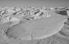 Glacier and Mountains of Bylot Island (JeffAmantea) Tags: bear mountain snow canada mountains ice monochrome landscape island climb nikon outdoor aviation glacier adventure explore polar nunavut d90 bylot