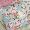 Patchwork cushion in Cath kidston fabrics (patchwork and lace) Tags: patchworkandlace handmade patchwork cathkidston shabbychic