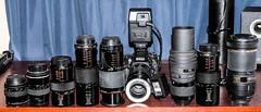 My Macro lens collection. (ScreaminScott) Tags: macro lenses