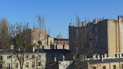 View from a window. d, IV 2016 (wait_for_april) Tags: old city blue sky poland polska walls lodz d  architektura  budynek   niebo   kamienice