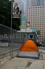 Orange tent work play (ADMurr) Tags: street leica camping orange 35mm la homeless tent m summicron dtla