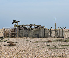 Dungeness (radleyfreak (offline for a while)) Tags: building beach wooden kent shingle headland collapsed