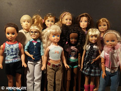 Stacie and her Crew (rollerskate13) Tags: max stacie barbie anakin janet todd mattel maxine skywalker