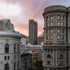 Market and Powell (sirgious) Tags: sanfrancisco sunset dusk powell unionsquare