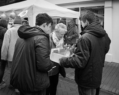 Mar 2016 (ammgramm) Tags: uk england bw woman white black men blackwhite cheshire naturallight lollipops macclesfield 18mm xpro1 treaclemarket fujifilmxpro1 fujinon18mmf2r