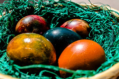 Easter (@Dpalichorov) Tags: holiday green grass easter nikon paint basket bokeh painted egg eggs skep easteregg nikond3200 paintedeggs d3200