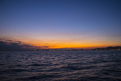Orange sky (theo.mirk) Tags: sunset sea landscape greece orangesky thessaloniki timeless  macedonian makedonia   macedoniagreece nikon18105f3556 nikond5300