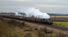 60009 Union of South Africa approaches Colton Junction with the 1Z60 Kings Cross to York special, 14th Dec 2013. (Dave Wragg) Tags: streak railway loco steam locomotive streamlined preserved ecml 60009 a4class coltonjunction 1z60
