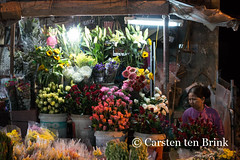 Hoi An market area at night (10b travelling) Tags: flowers night asian evening asia asien southeastasia vietnamese market vietnam asie indochine indochina flowerseller 2015 otherkeywords tenbrink carstentenbrink genericplaces iptcbasic 10btravelling