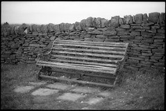 Bench (fawcetownsley) Tags: blackandwhite film 35mm olympus schwarzweiss techpan fixer technicalpan technidol 18min
