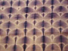 chale katano violet sur sergé de laine