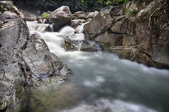 Sungai Pertak under a hot sunny day (vedd) Tags: longexposure nature rock river waterfall malaysia selangor cascading canonefs1022mm kualakububharu digitalblending vedd canoneos60d sungaipertak promotecontroller