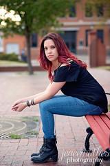 Adriana (JeneeMathes) Tags: woman beauty lady photography nikon gorgeous sit kansas 24 hutch nikkor redhair hutchinson jenee mathes 85mm18g jeneemathes