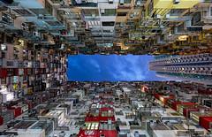 Urban Density || Hong Kong (blame_the_monkey) Tags: china city travel urban architecture night hongkong asia apartments cityscape transformers fujifilm bluehour quarrybay xt1