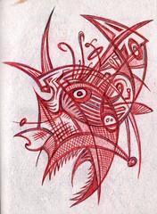 Fish Head (darksaga66) Tags: fish head doodle penandink inkart bookofink