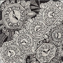 Klok (Klok #1) Example (molossus, who says Life Imitates Doodles) Tags: patterns steampunk zentangle zendoodle tanglepatterns zentangleinspiredart patterncollectionscom