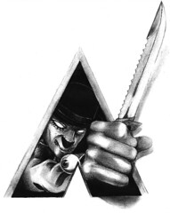 Clockwork... (LukeDaDuke) Tags: illustration pencil drawing knife draw ultraviolence aclockworkorange lukedaduke moviereference 2bpencil