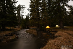 Earth Night (Awake at Night) Tags: longexposure nightphotography camping southdakota blackhills creek landscape tents nikon stream wideangle fullmoon runoff placermining d810 sleepoutside andyoudid dontfuckingpartybyus