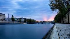Paris le Soir (QuintonJB) Tags: street city sunset sky sun paris france night clouds canon evening cityscape eiffeltower eiffel explore toureiffel parisian parismaville