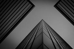 ...theobserver III... (ines_maria) Tags: vienna wien sky geometric skyscraper noiretblanc minimal line dctower