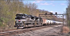 65R: Many Tanks (Images by A.J.) Tags: new york nyc railroad heritage train pittsburgh tank pennsylvania ns norfolk central line southern pa oil greensburg signal freight prr emd sd70ace