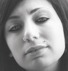 closely (marco monetti) Tags: portrait blackandwhite beautiful beauty face closeup eyes lips piercing occhi ritratto viso prettygirl biancoenero labbra bellaragazza davicino