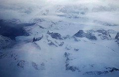 Southern Greenland (NYC Comets) Tags: sky snow mountains ice flying lakes arctic greenland glaciers icelandair
