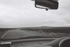 (Jack Motley) Tags: sky blackandwhite film car analog 35mm landscape sheffield grain fields analogue castleton ilfordfp4 olympusaf10