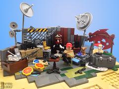 (Mad) Maracas Joe (burningblocks) Tags: crazy war desert lego apocalypse guns vignette diorama weapons wasteland outpost moc