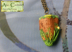 Wild Meadow Pendant (Polymer Clay Delights) Tags: diy handmade unique oneofakind ooak meadow polymerclay handcrafted wildgrass handsculpted wildmeadow polymerclayjewellery polymerclaypendant polymerclaynecklace naturenecklace naturejewellery
